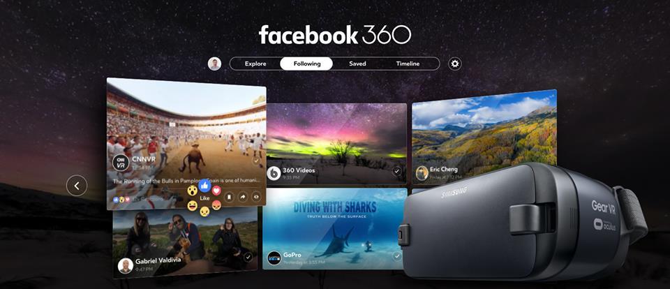 Disponible Facebook 360 para Oculus Rift y Samsung Gear VR 1