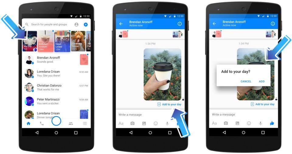 Facebook anuncia Messenger Day como una forma de seguir el rumbo de Instagram y WhatsApp 2
