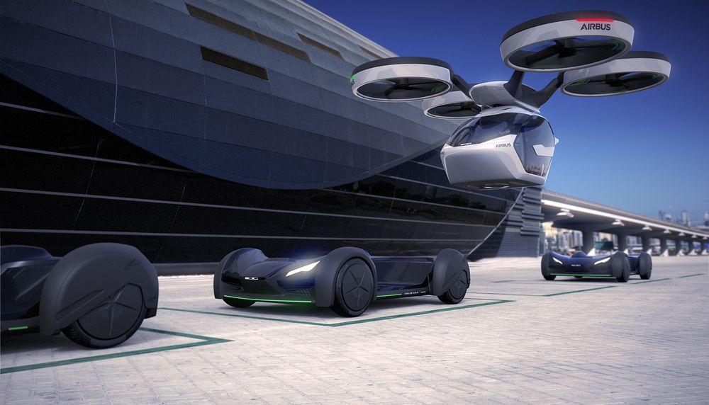 Pop.Up el concept car de Airbus, mitad coche, mitad drone 1