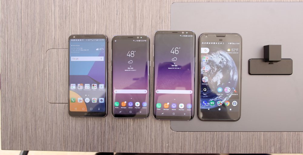 Samsung Galaxy S8 y S8+, LG G6 y Google Pixel