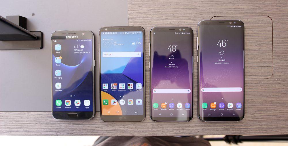 Samsung Galaxy S7, LG G6 y Galaxy S8 y S8+