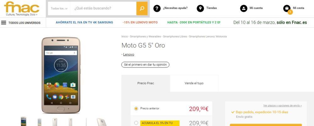 Moto G5 Fnac España
