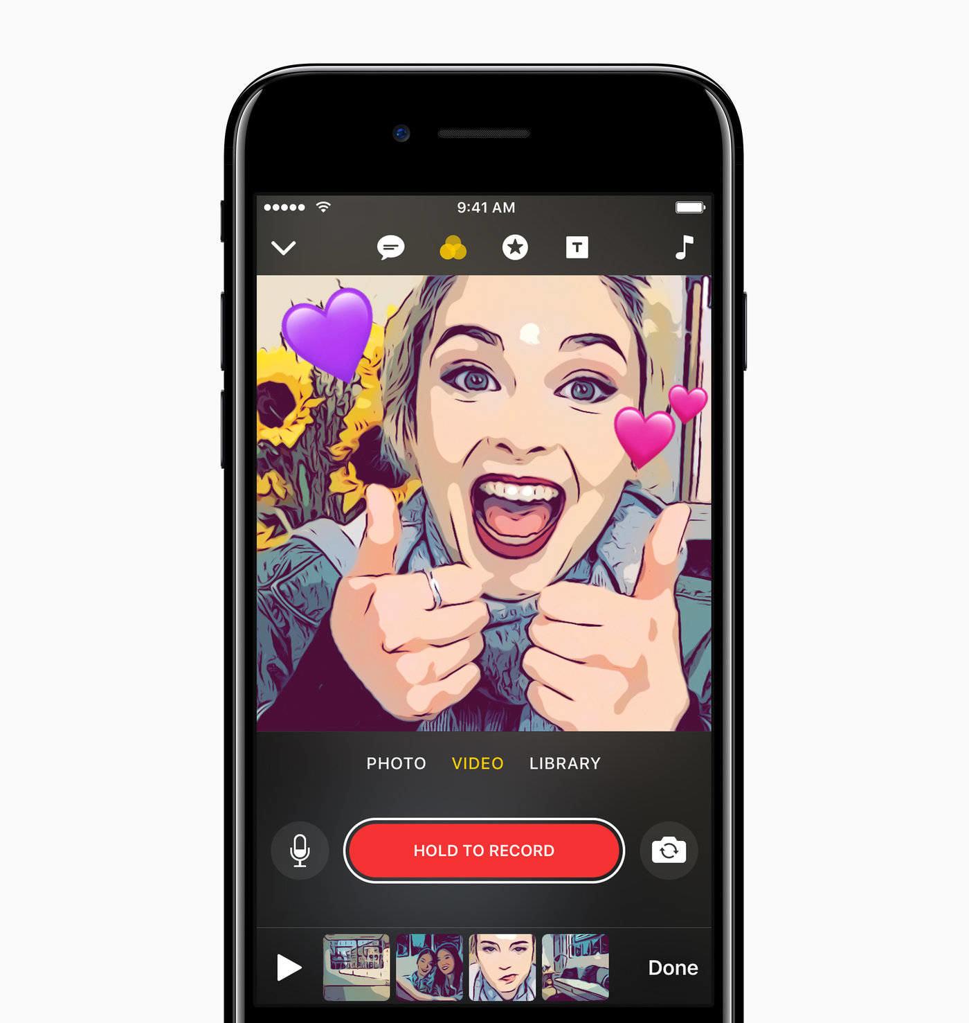 Apple anuncia Clips, una nueva aplicación para crear vídeos sociales con mucho estilo en iOS 1