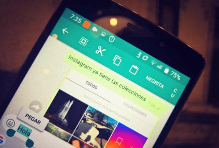 WhatsApp formato texto en Androide