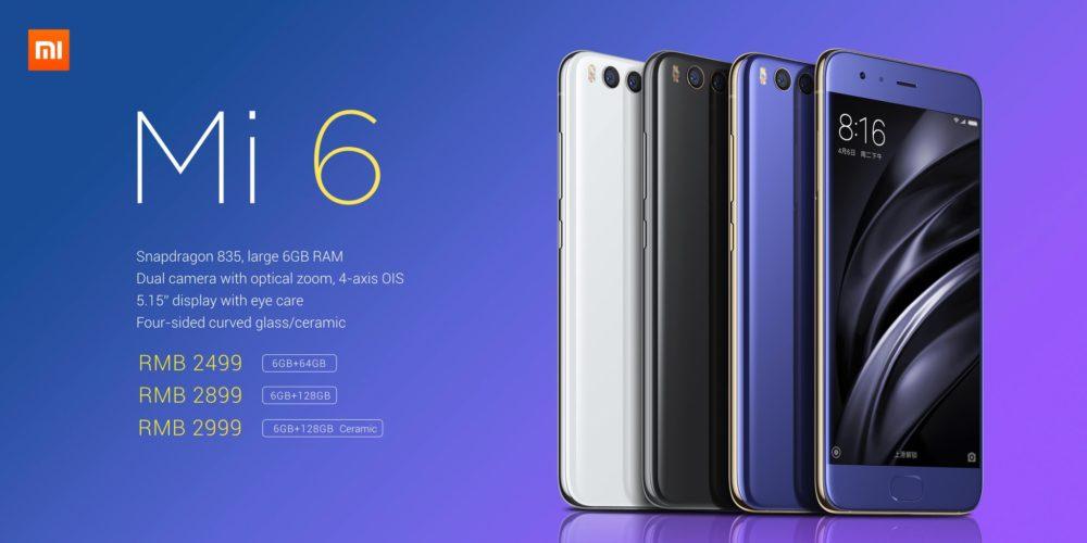 Xiaomi Mi 6 precios