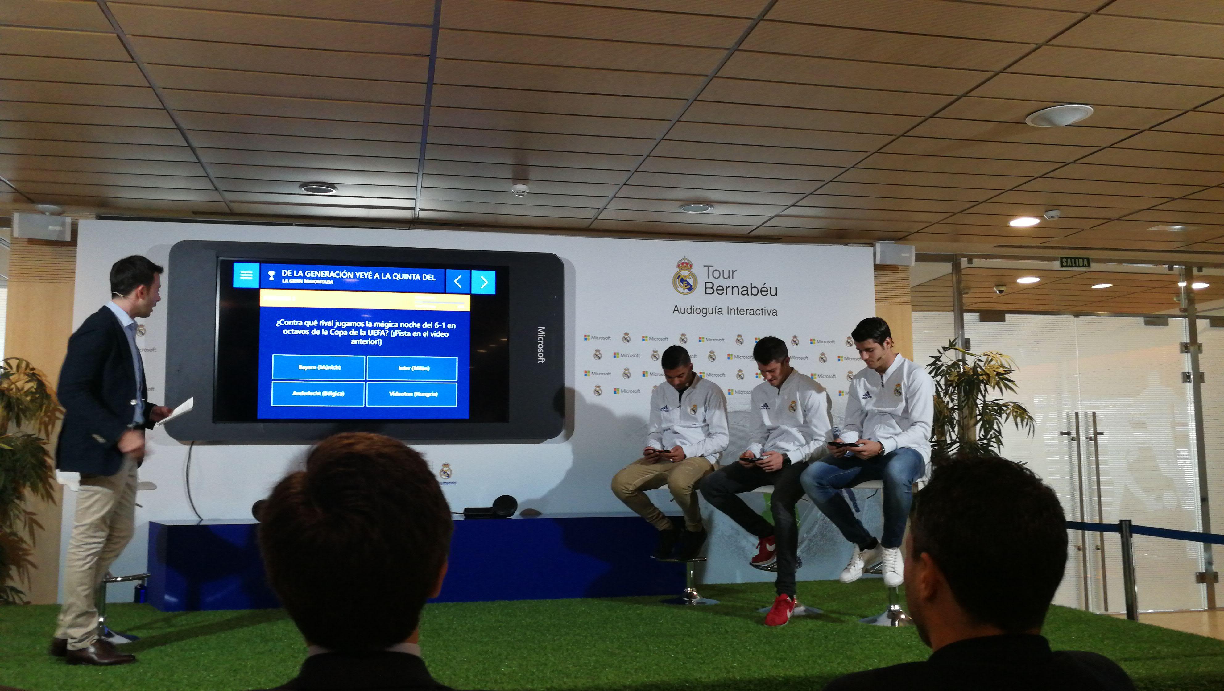 El Real Madrid y Microsoft presentan su Audioguía Interactiva