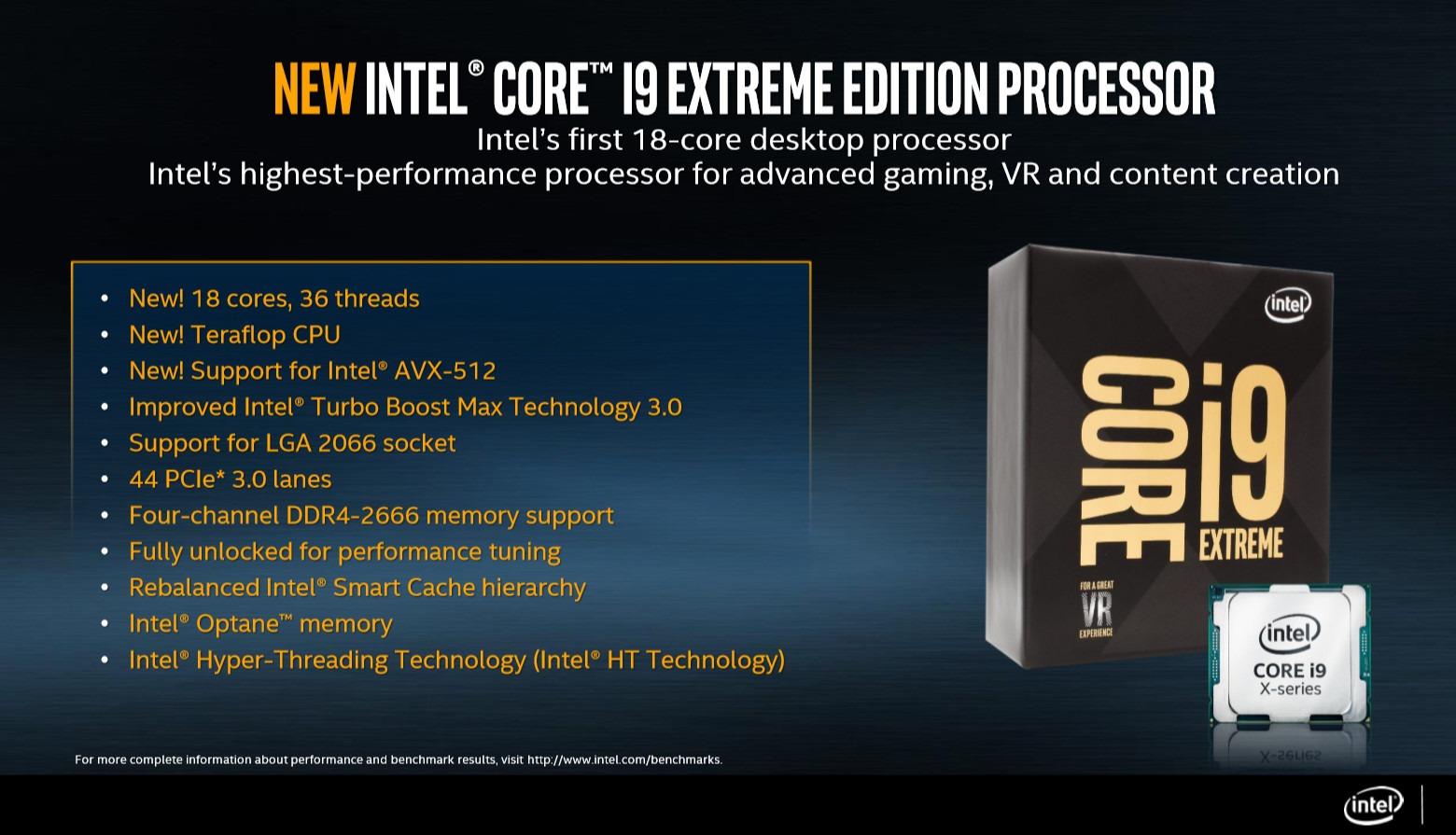 Intel anuncia sus procesadores i9 de gama alta con hasta 18 núcleos 2