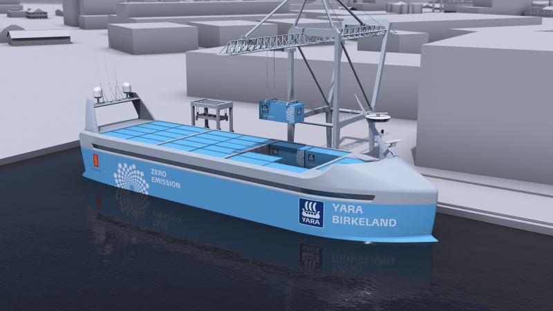 Yara Birkeland, el primer buque autónomo llegará en el 2018 1