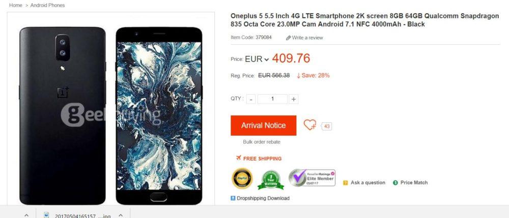 OnePlus 5, ya conocemos todas sus especificaciones y precio 1