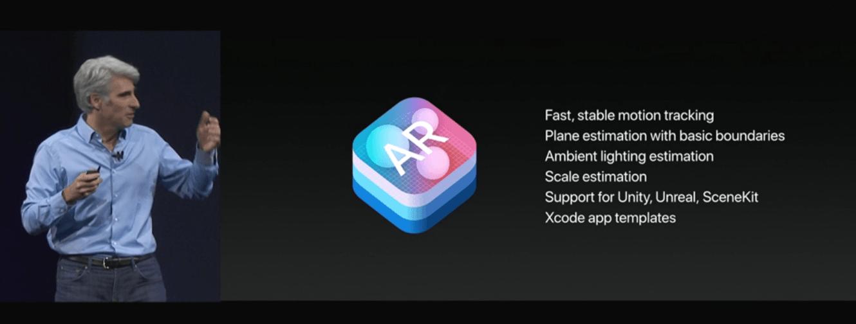 Apple presenta su plataforma de realidad aumentada con iOS 11 1