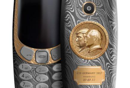 Lanzan un Nokia 3310 y iPhone 7 de oro y titanio para celebrar el encuentro de Trump y Putin 3