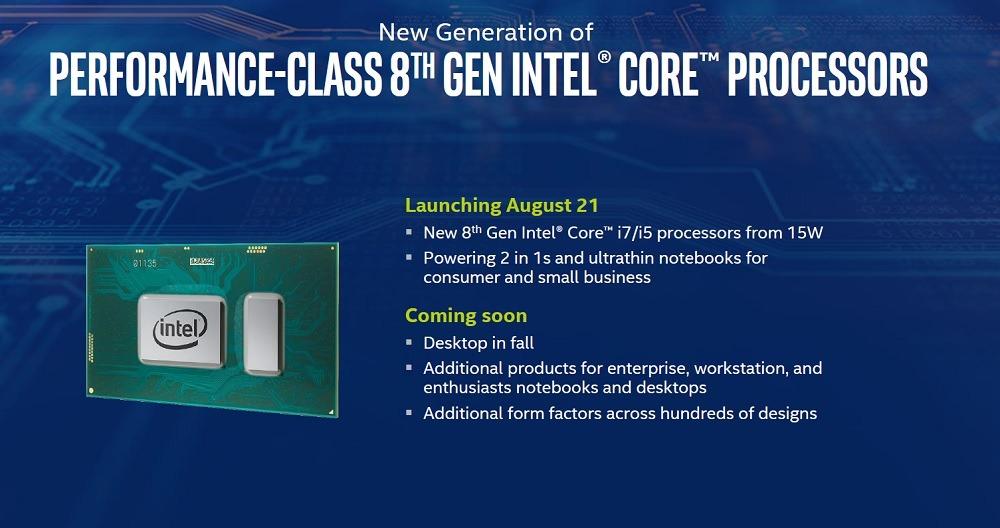 Intel anuncia sus nuevos procesadores de octava generación