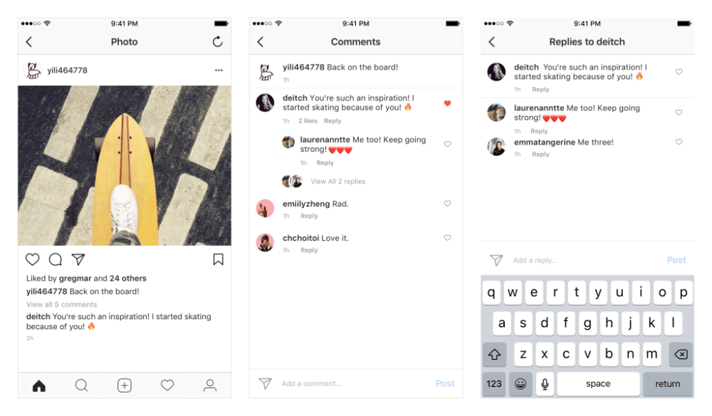 Instagram también rediseñará su área de comentarios 2
