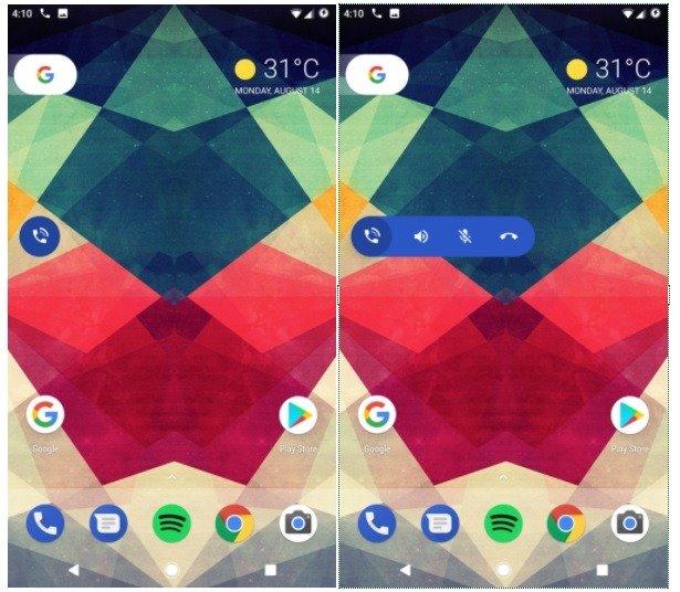 """Google estaría preparando una """"burbuja"""" más completa para su aplicación de teléfono"""