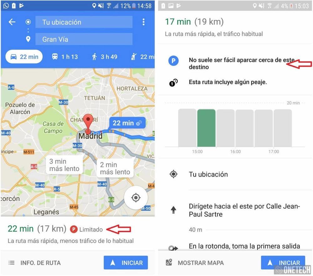 Google Maps - Aparcar