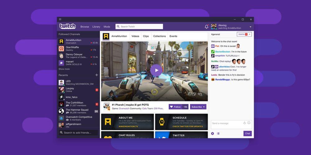Twitch lanza su aplicación oficial para Windows y Mac