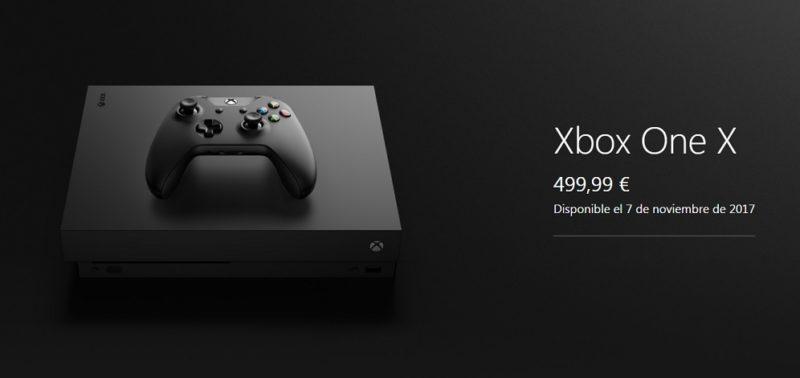 En septiembre se abrirá la reservar de Xbox One X estándar 1