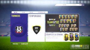 Menú Principal FIFA 18