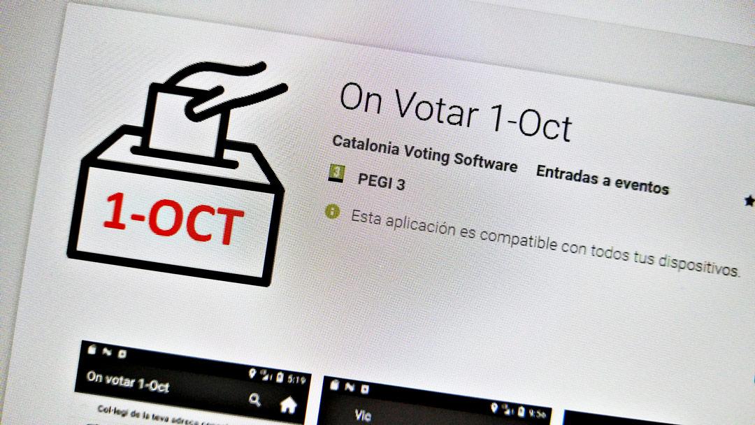"""La aplicación """"On Votar 1-Oct"""" para saber dónde votar en el referéndum catalán"""