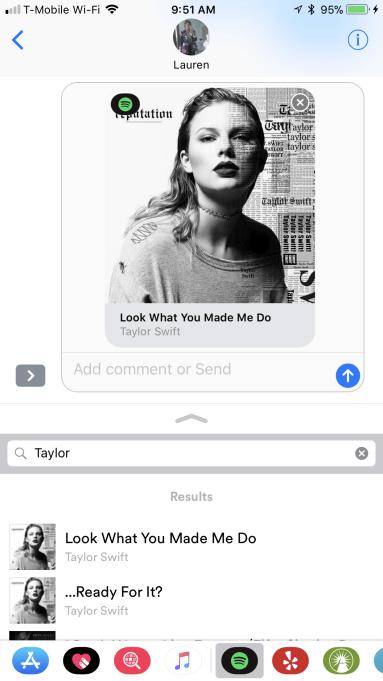 Spotify lanza una aplicación de iMessage para compartir preview de canciones 1
