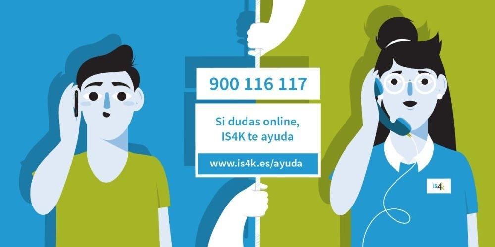 900 116 117 teléfono de atención al menor sobre los riesgos de Internet