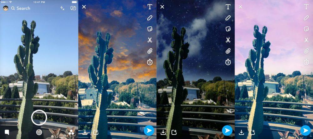 Sky filter Snapchat
