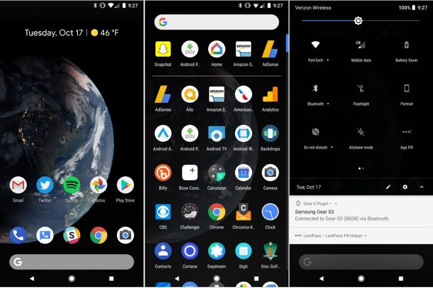 Google Pixel 2 Modo Oscuro
