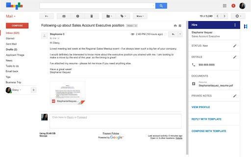 Hire Complementos Gmail