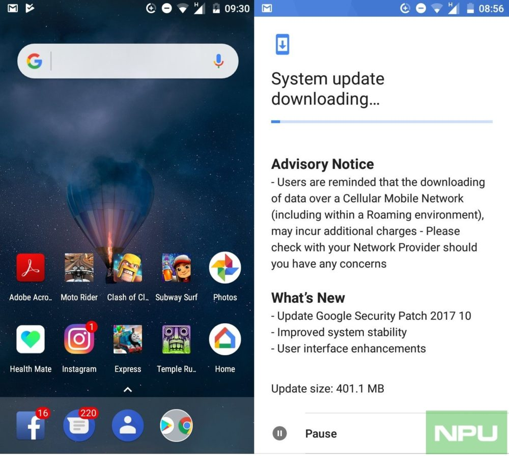 Nokia 3 Actualización Octubre