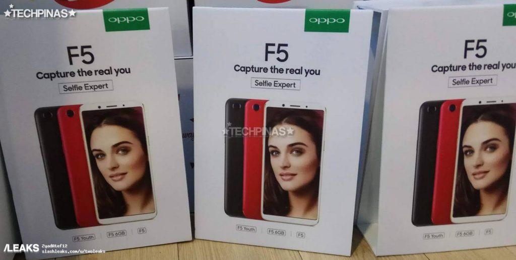 Caja del Oppo F5