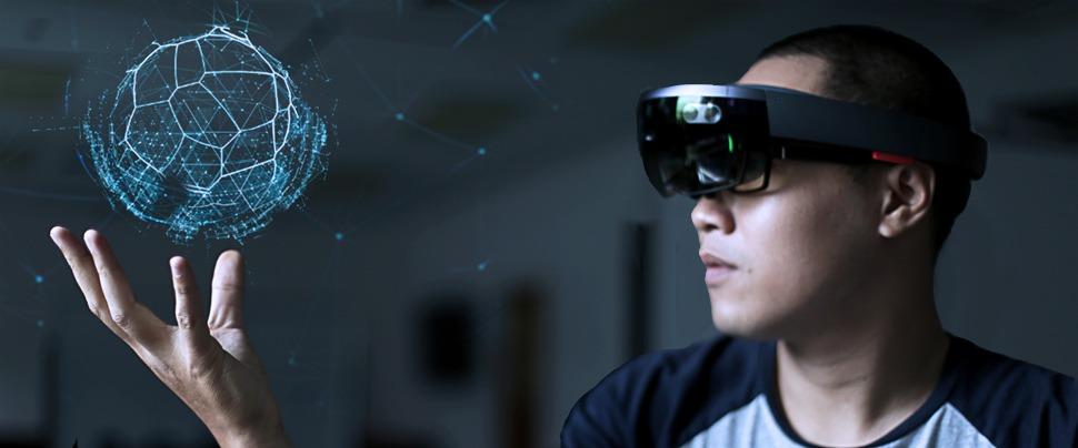 Elemento virtual visto con las HoloLens