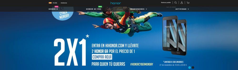 Dos Honor 6A por el precio de uno, nueva oferta Cyber Monday de Honor 1