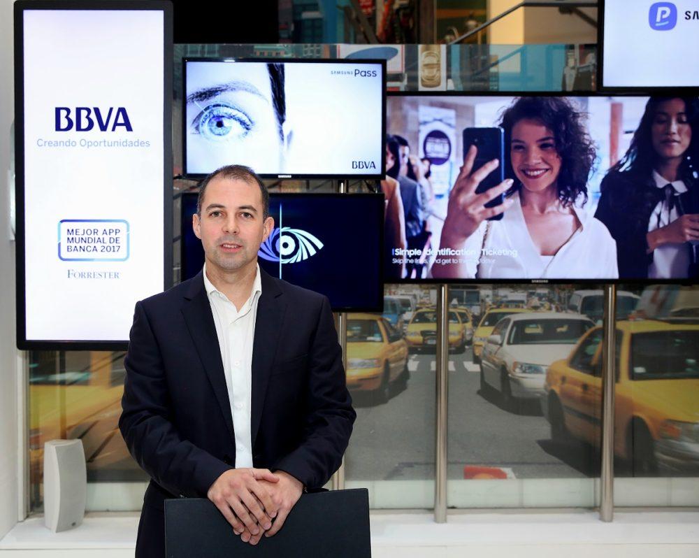 La app de BBVA ya admite reconocimiento por iris en terminales Samsung