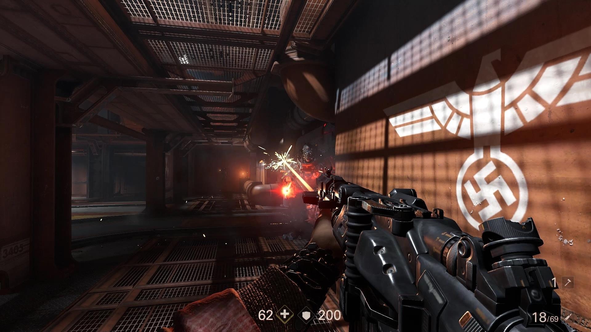 Wolfenstein 2 Shooting
