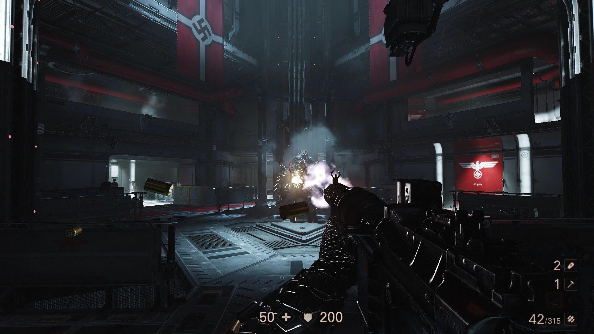Wolfenstein 2 Shooting Robot