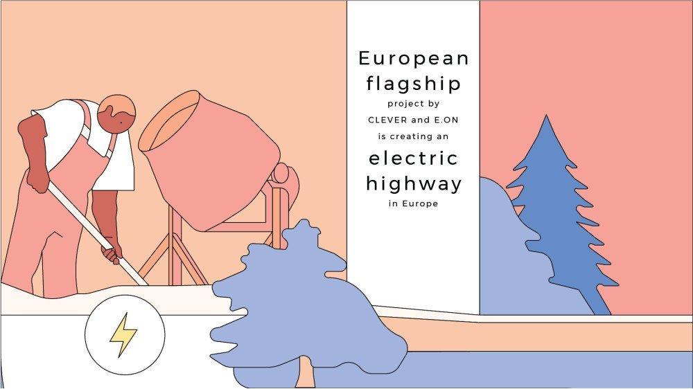 E.ON y CLEVER están creando una autopista eléctrica desde Noruega a Italia