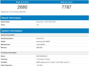 Samsung Galaxy S9: filtradas sus supuestas especificaciones y rendimiento 1