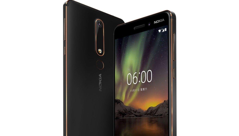 Nokia 6 2018 posando en color negro