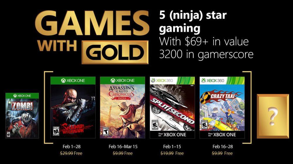 Estos son los Games With Gold para el mes de Febrero 1