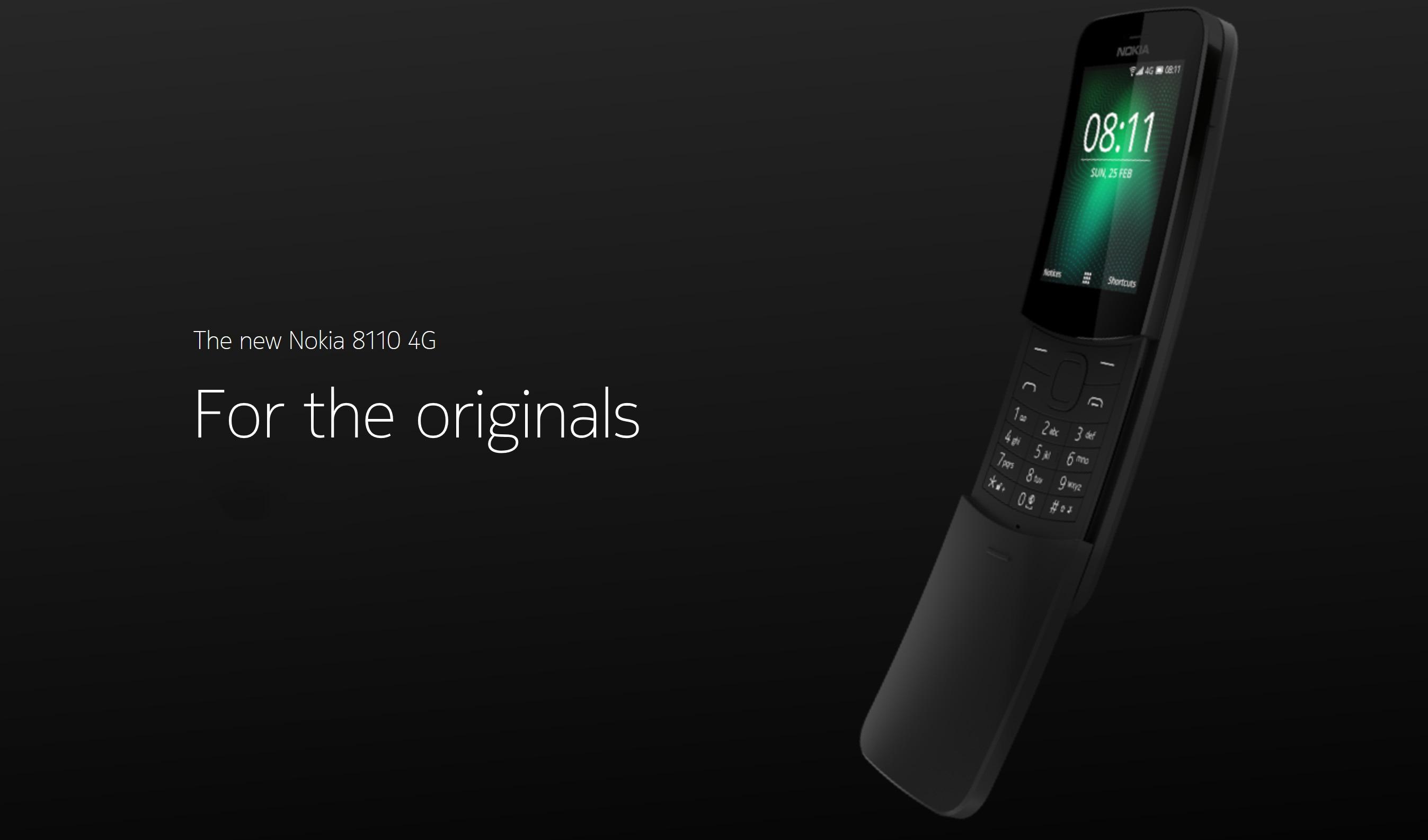 Nokia 8110 4G, la vuelta de un teléfono icónico modernizado [MWC18] 1