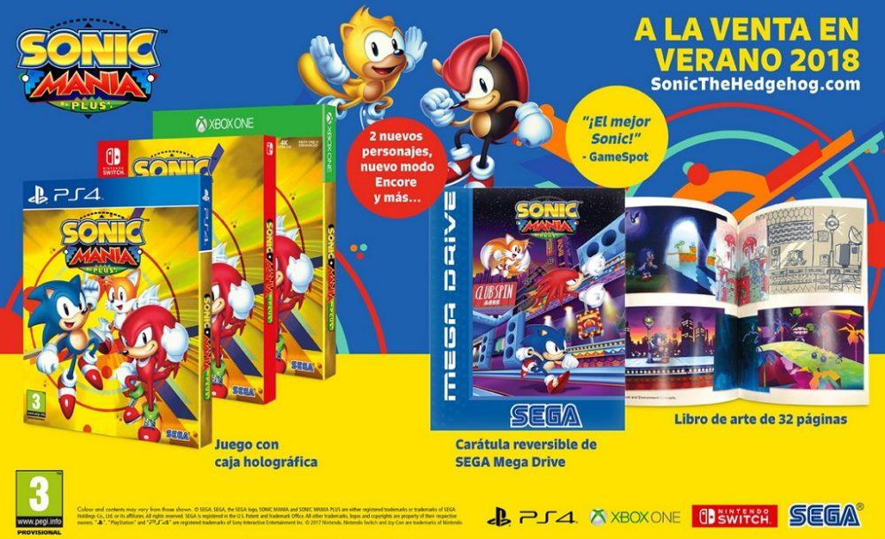 Sonic Mania Plus llegará este verano para Nintendo Switch, Xbox One, PlayStation 4 y Steam 1
