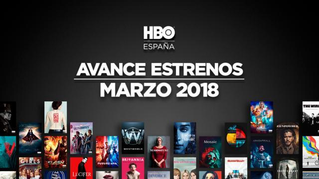 estrenos marzo hbo