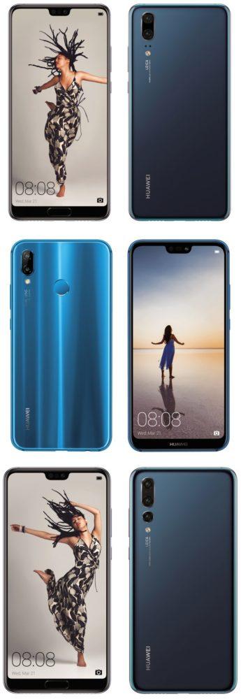 Ya tenemos las imágenes de los Huawei P20, P20 Pro y P20 Lite