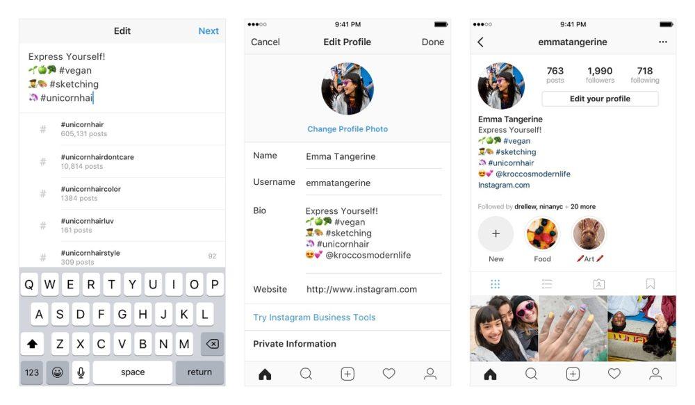 Instagram ya permite enlaces en hashtag y menciones en perfiles