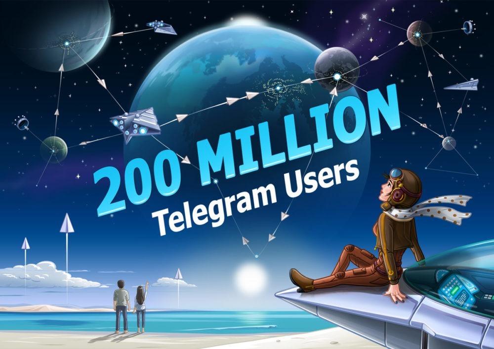 Telegram ya cuenta con 200 millones de usuarios activos al mes
