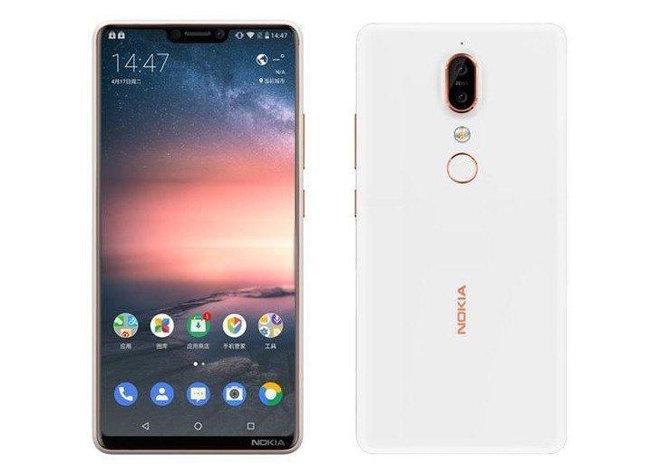 Nokia X6 frontal y trasera