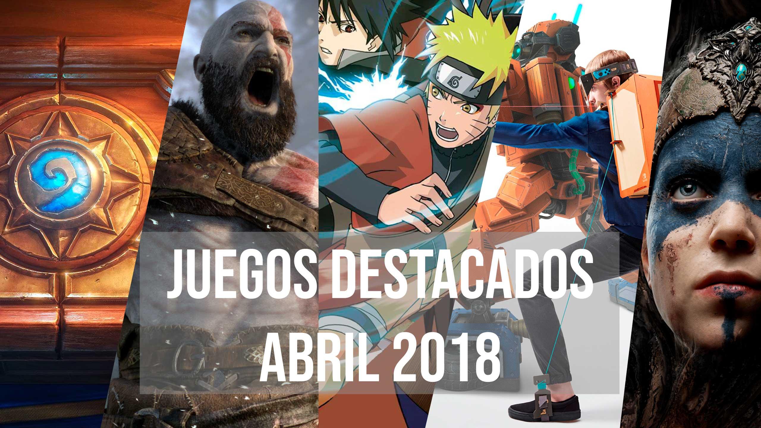 Juegos destacados abril 2018