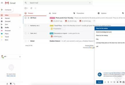 gmail modo confidencial