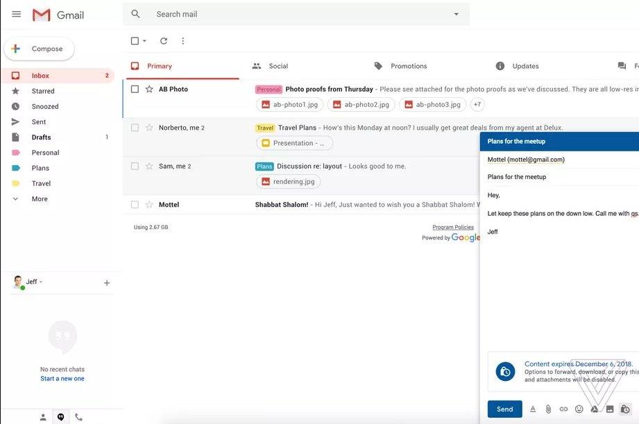 Gmail contará con un Modo Confidencial muy pronto