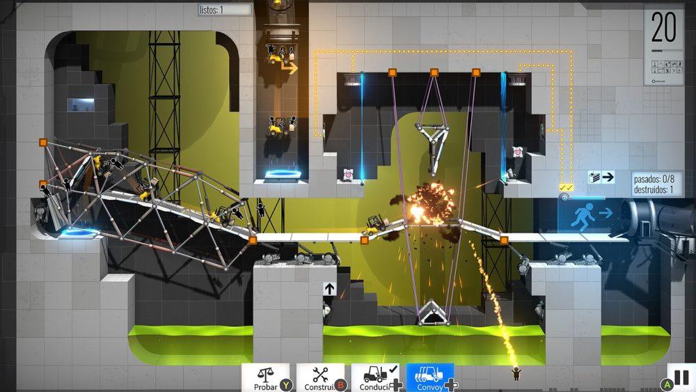 Bridge Constructor: Portal, análisis del centro de desarrollo de Aperture Science 6